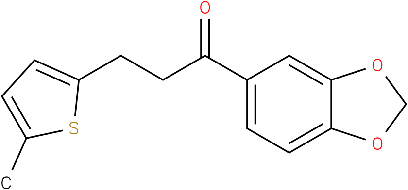 1-Benzo[1,3]dioxol-5-yl-3-(5-methyl-thiophen-2-yl)-propan-1-one