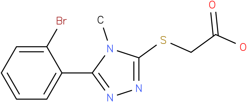 [5-(2-Bromo-phenyl)-4-methyl-4H-[1,2,4]triazol-3-ylsulfanyl]-acetic acid
