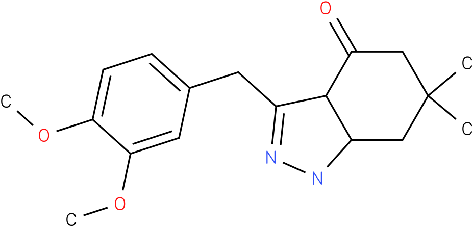 3-(3,4-Dimethoxy-benzyl)-6,6-dimethyl-1,3a,5,6,7,7a-hexahydro-indazol-4-one