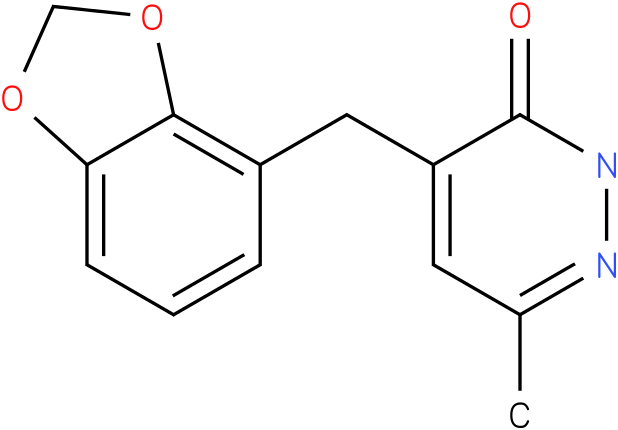 4-Benzo[1,3]dioxol-4-ylmethyl-6-methyl-2H-pyridazin-3-one