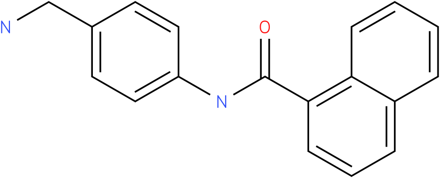 Naphthalene-1-carboxylic acid (4-aminomethyl-phenyl)-amide