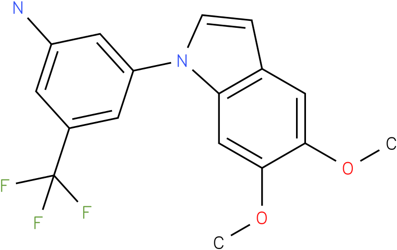 3-(5,6-Dimethoxy-indol-1-yl)-5-trifluoromethyl-phenylamine