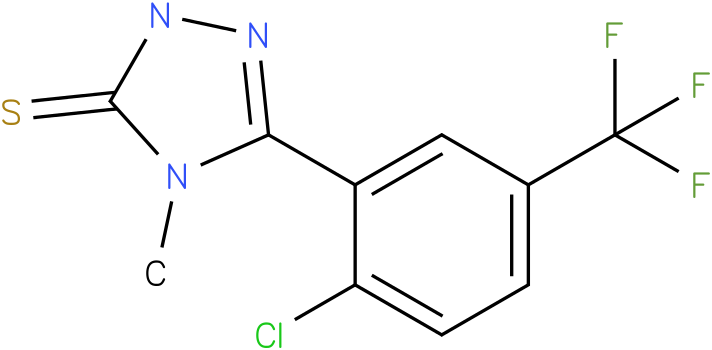 5-(2-Chloro-5-trifluoromethyl-phenyl)-4-methyl-2,4-dihydro-[1,2,4]triazole-3-thione