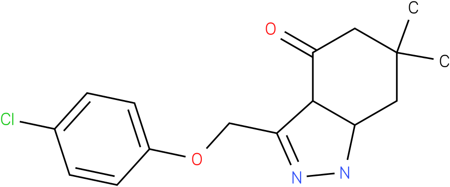 3-(4-Chloro-phenoxymethyl)-6,6-dimethyl-1,3a,5,6,7,7a-hexahydro-indazol-4-one