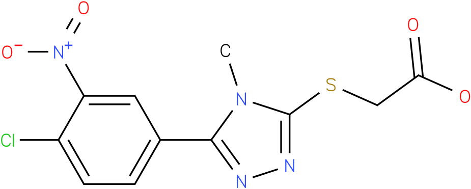 [5-(4-Chloro-3-nitro-phenyl)-4-methyl-4H-[1,2,4]triazol-3-ylsulfanyl]-acetic acid