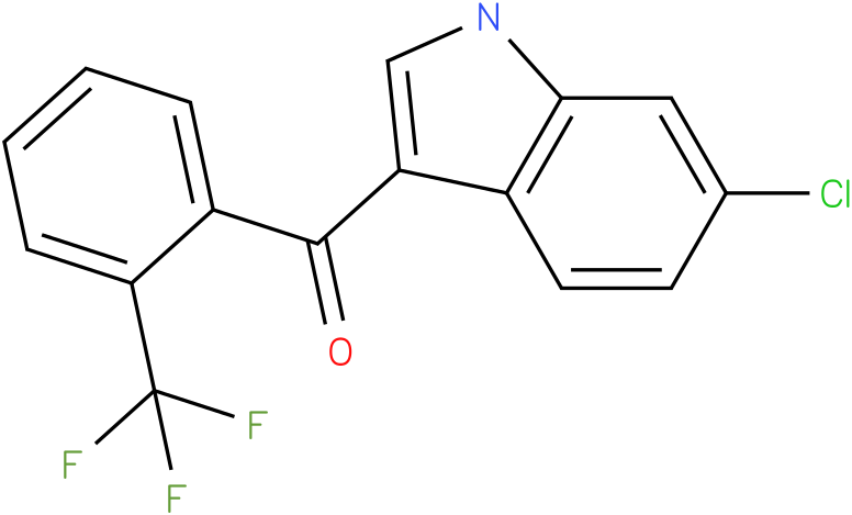 (6-Chloro-1H-indol-3-yl)-(2-trifluoromethyl-phenyl)-methanone