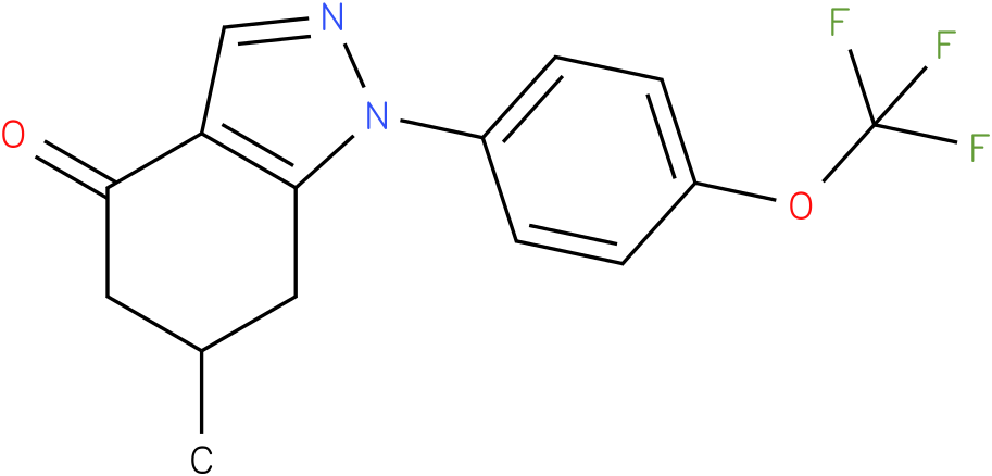 6-Methyl-1-(4-trifluoromethoxy-phenyl)-1,5,6,7-tetrahydro-indazol-4-one