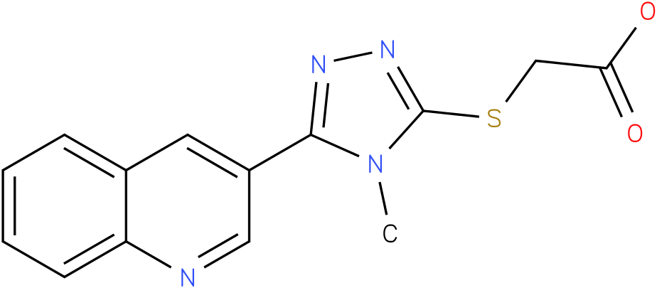 (4-Methyl-5-quinolin-3-yl-4H-[1,2,4]triazol-3-ylsulfanyl)-acetic acid