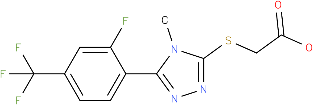[5-(2-Fluoro-4-trifluoromethyl-phenyl)-4-methyl-4H-[1,2,4]triazol-3-ylsulfanyl]-acetic acid