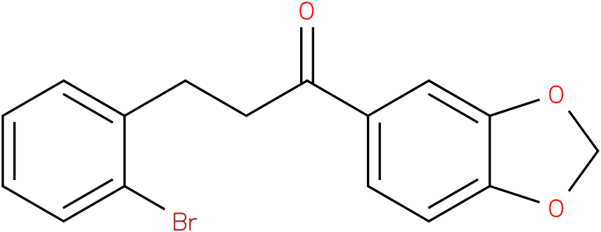 1-Benzo[1,3]dioxol-5-yl-3-(2-bromo-phenyl)-propan-1-one