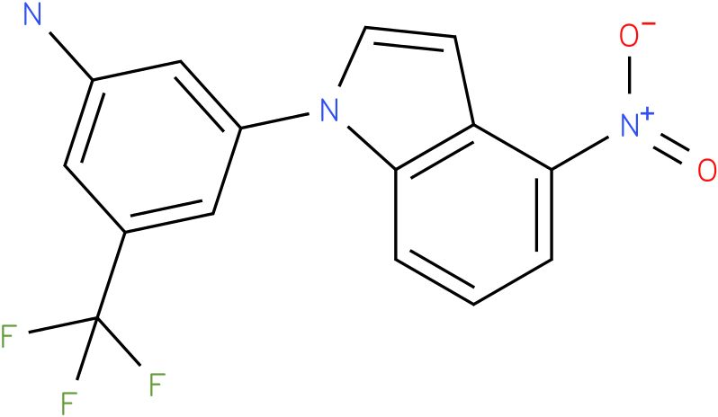 3-(4-Nitro-indol-1-yl)-5-trifluoromethyl-phenylamine