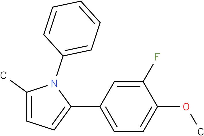 2-(3-Fluoro-4-methoxy-phenyl)-5-methyl-1-phenyl-1H-pyrrole