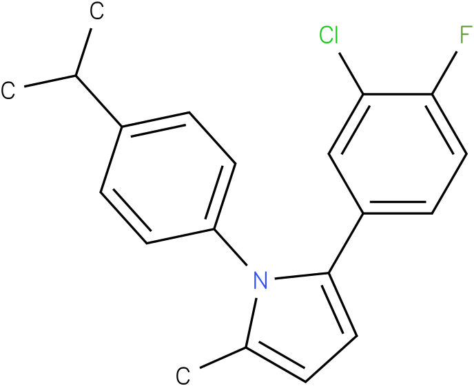 2-(3-Chloro-4-fluoro-phenyl)-1-(4-isopropyl-phenyl)-5-methyl-1H-pyrrole