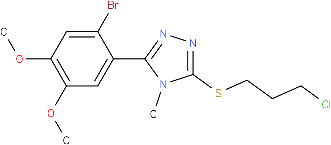 3-(2-Bromo-4,5-dimethoxy-phenyl)-5-(3-chloro-propylsulfanyl)-4-methyl-4H-[1,2,4]triazole