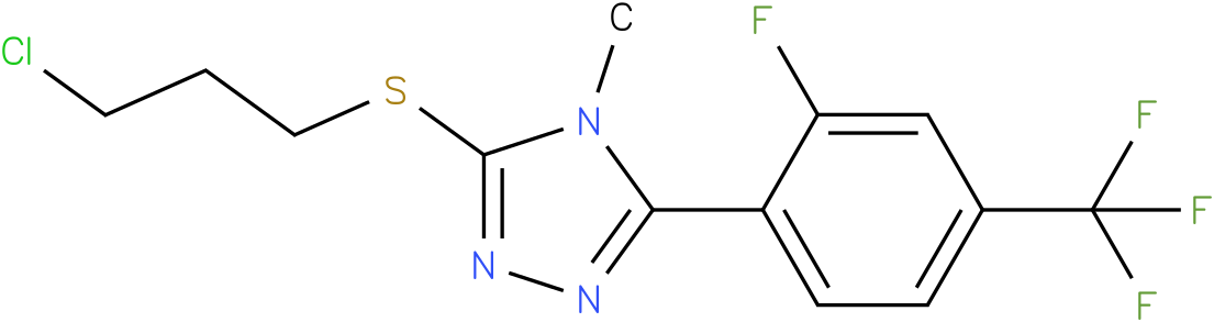 3-(3-Chloro-propylsulfanyl)-5-(2-fluoro-4-trifluoromethyl-phenyl)-4-methyl-4H-[1,2,4]triazole