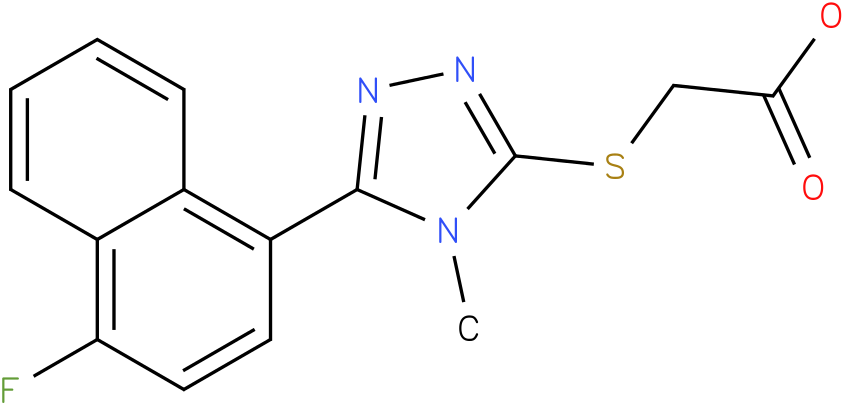 [5-(4-Fluoro-naphthalen-1-yl)-4-methyl-4H-[1,2,4]triazol-3-ylsulfanyl]-acetic acid