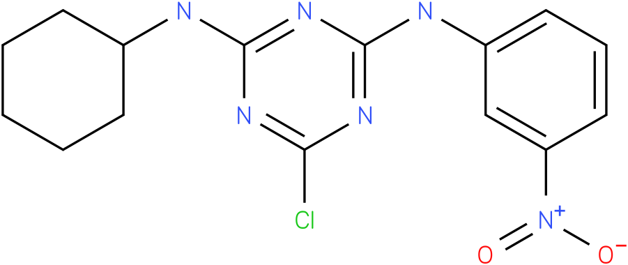 6-Chloro-N-cyclohexyl-N'-(3-nitro-phenyl)-[1,3,5]triazine-2,4-diamine