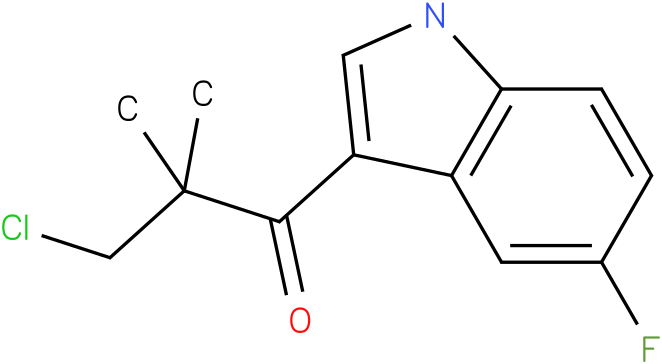 3-Chloro-1-(5-fluoro-1H-indol-3-yl)-2,2-dimethyl-propan-1-one