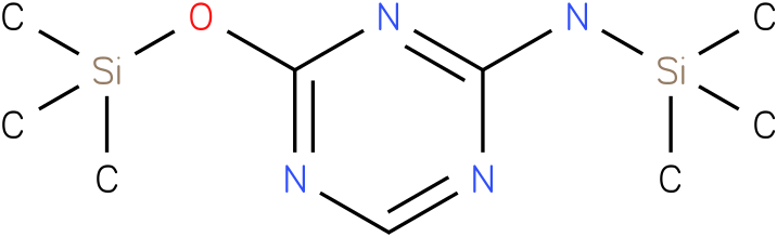N-(trimethylsilyl)-4-(trimethylsilyloxy)-1,3,5-triazin-2-amine
