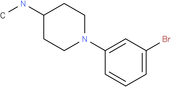 1-(3-Bromophenyl)-N-methyl-4-piperidine