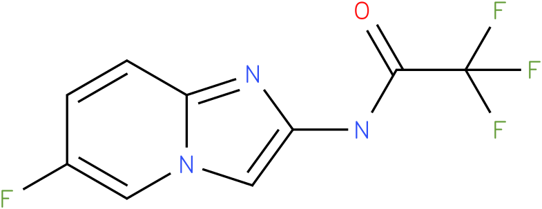 2,2,2-trifluoro-N-(6-fluoroH-imidazo[1,2-a]pyridin-2-yl)acetamide