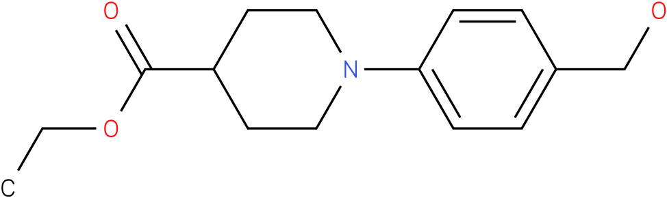 1-(4-hydroxymethylphenyl)piperidine-4-carboxylic acid ethyl ester