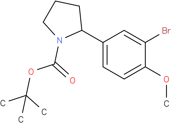 tert-butyl 2-(3-bromo-4-methoxyphenyl)pyrrolidine-1-carboxylate