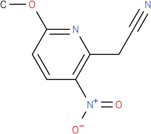 2-(6-methoxy-3-nitropyridin-2-yl)acetonitrile