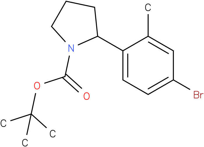 tert-butyl 2-(4-bromo-2-methylphenyl)pyrrolidine-1-carboxylate