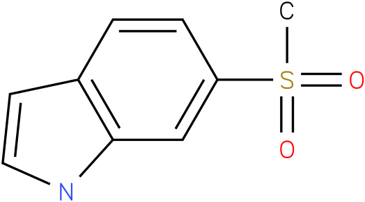 6-(methylsulfonyl)-1H-indole