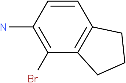 4-bromo-2,3-dihydro-1H-inden-5-amine