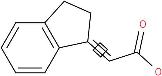 2-(1,2-dihydroinden-3-ylidene)acetic acid