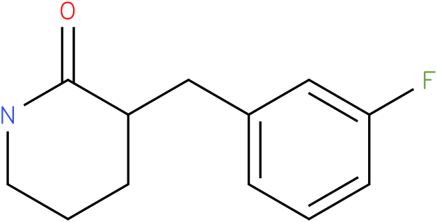 3-(3-fluorobenzyl)piperidin-2-one