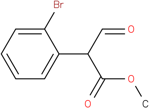 methyl 2-(2-bromophenyl)-2-formylacetate