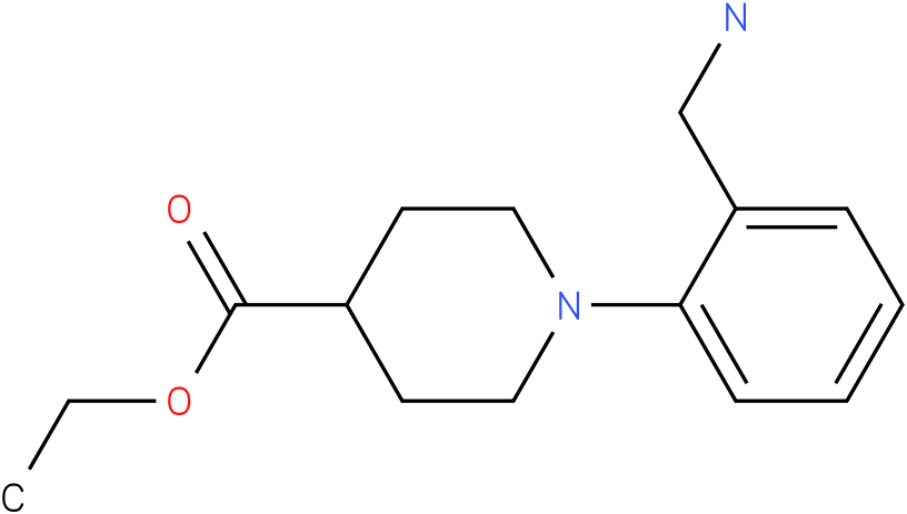 1-(2-aminomethyl-phenyl)-piperidine-4-carboxylic acid ethyl ester
