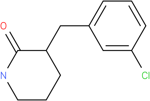 3-(3-chlorobenzyl)piperidin-2-one