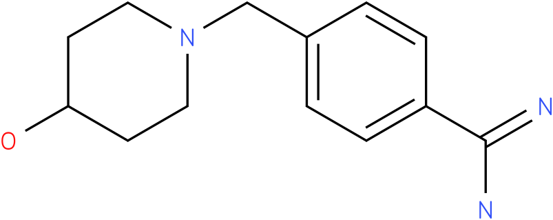 4-(4-hydroxy-piperidin-1-ylmethyl)-benzamidine