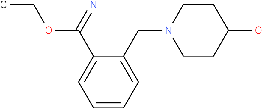 2-(4-hydroxy-piperidin-1-ylmethyl)-benzimidic acid ethyl ester