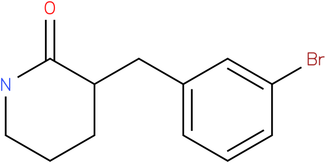 3-(3-bromobenzyl)piperidin-2-one