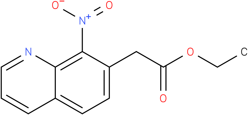 ethyl 2-(8-nitroquinolin-7-yl)acetate
