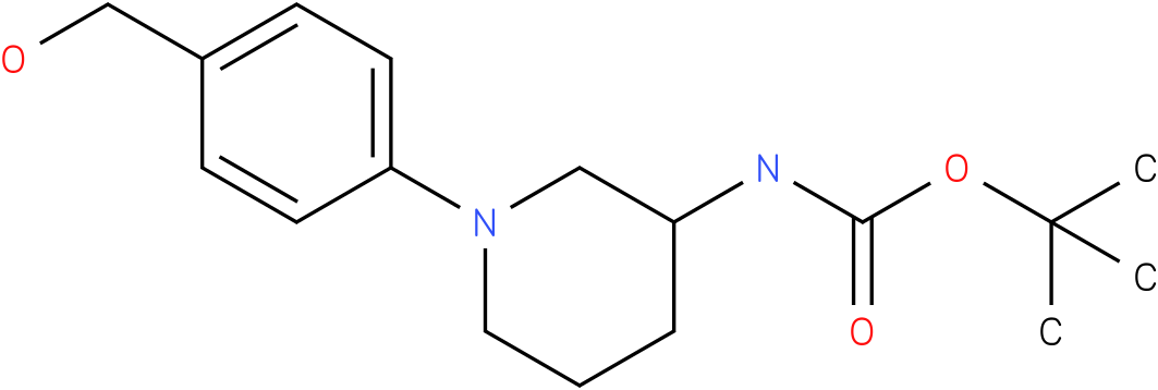 1-(4-hydroxymethyl-phenyl)-piperidin-3-carbamic acid tert-butyl ester