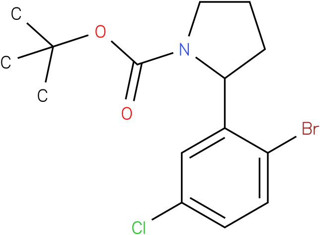 tert-butyl 2-(2-bromo-5-chlorophenyl)pyrrolidine-1-carboxylate