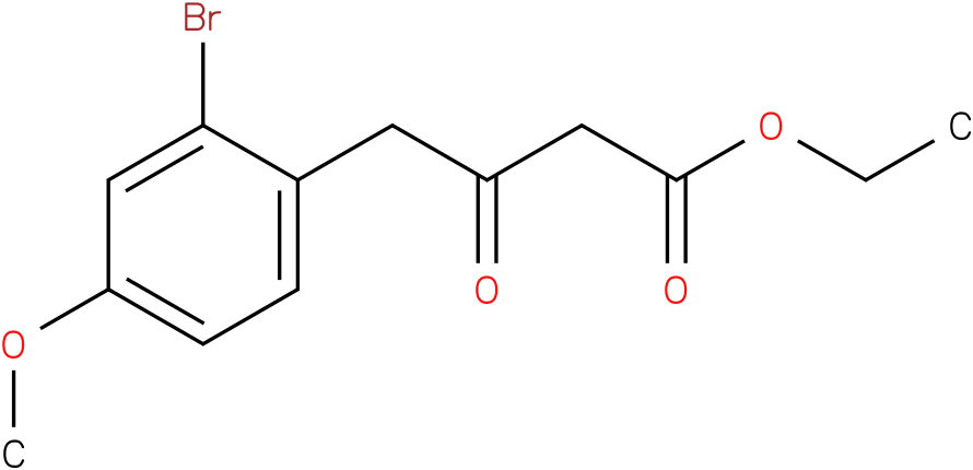 ethyl 4-(2-bromo-4-methoxyphenyl)-3-oxobutanoate