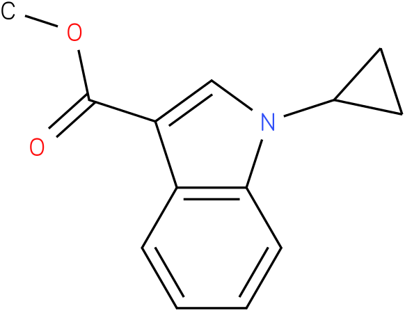 methyl 1-cyclopropyl-1H-indole-3-carboxylate