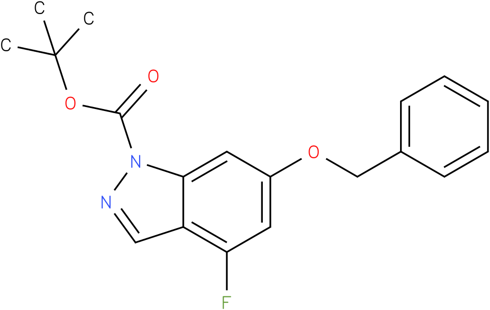 Tert-butyl 6-(benzyloxy)-4-fluoro-1H-indazole-1-carboxylate