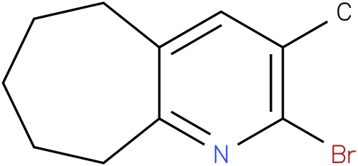 2-bromo-6,7,8,9-tetrahydro-3-methyl-5H-cyclohepta[b]pyridine