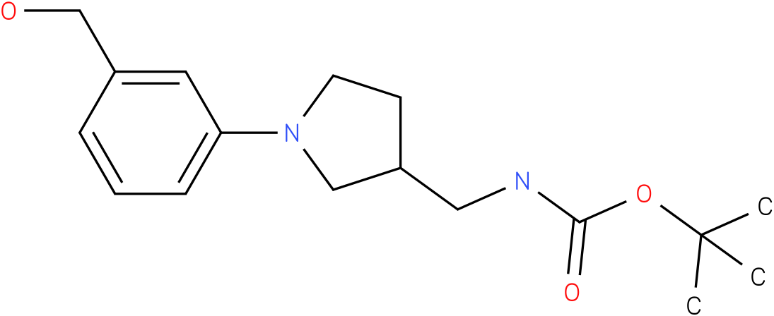[1-(3-hydroxymethyl-phenyl)-pyrrolidin-3-ylmethyl]-carbamic acid tert-butyl ester