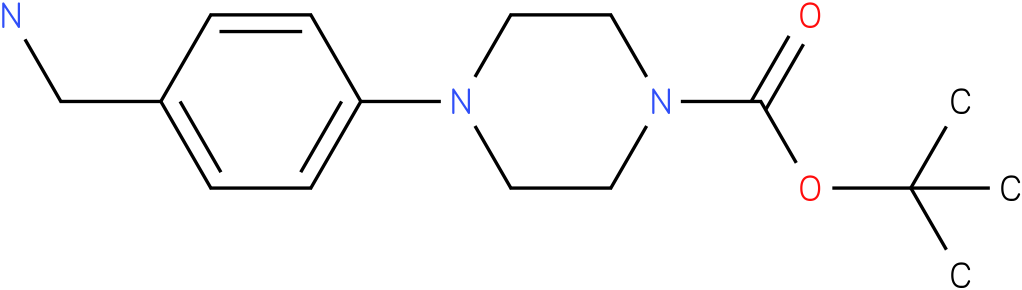 1-(4-aminomethyl-phenyl)-piperazine-4-carboxylic acid tert-butyl ester