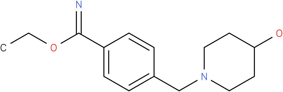 4-(4-hydroxy-piperidine-1-ylmethyl)-benzimidic acid ethyl ester