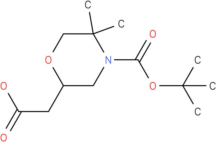 2-carboxymethyl-5,5-dimethyl-morpholine-4-carboxylic acid tert-butyl ester